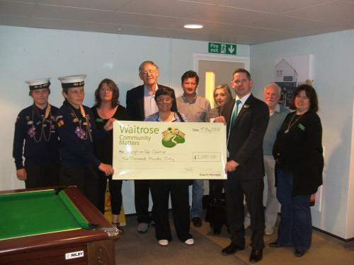 Waitrose Leigh-on-sea - 9th May Chq Presentation group